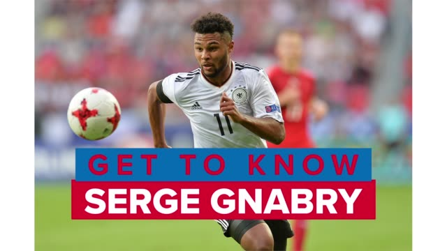 get to know soccer player serge gnabry, a winger for bayern munich in the bundesliga and the germany national team. - zweiter platz stock-videos und b-roll-filmmaterial