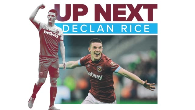 get to know upandcoming soccer star declan rice a defensive midfielder for english premier league club west ham united and the england national team - wisdom stock videos & royalty-free footage