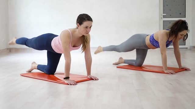 get your body in balance - exercise mat stock videos & royalty-free footage