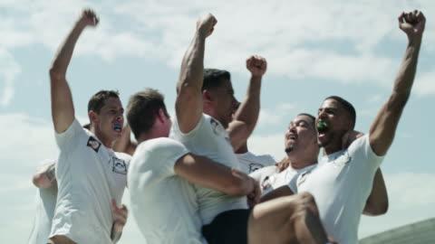 vídeos de stock e filmes b-roll de getting a taste of victory - râguebi desporto