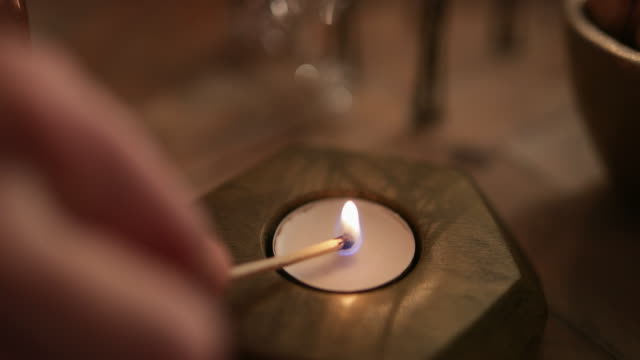 getting cozy - candle stock videos & royalty-free footage