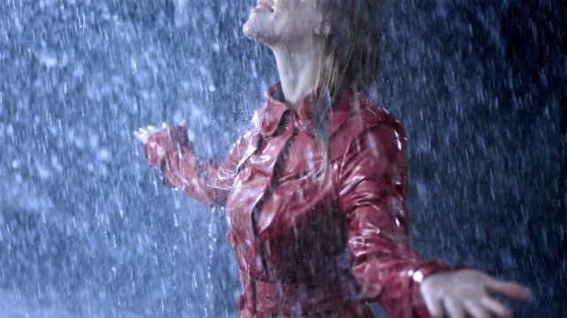 getting drenched in the heavy rain - wet stock videos & royalty-free footage