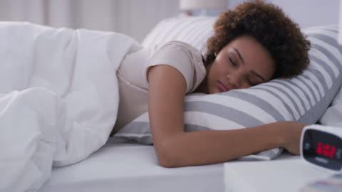 getting every last minute of my beauty sleep - sleeping stock videos & royalty-free footage