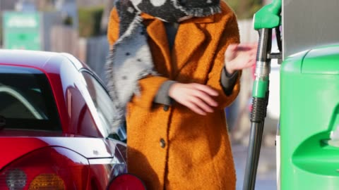 getting gas before work - petrol stock videos & royalty-free footage