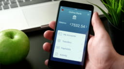 Getting payment on the banking app