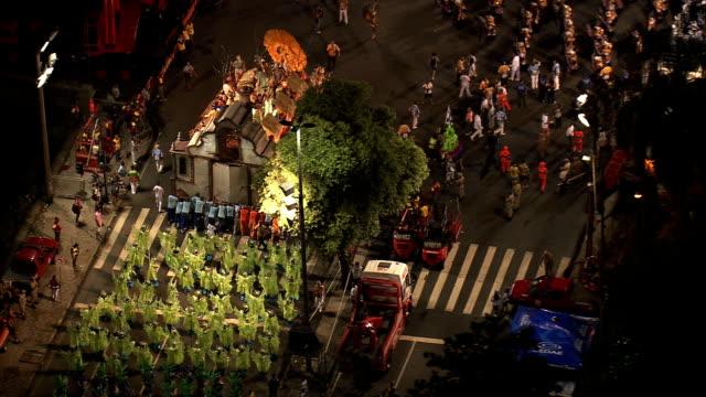 Sind Sie bereit für die FASCHINGSPARADE-Luftaufnahme-Rio de Janeiro, Rio de Janeiro, Brasilien