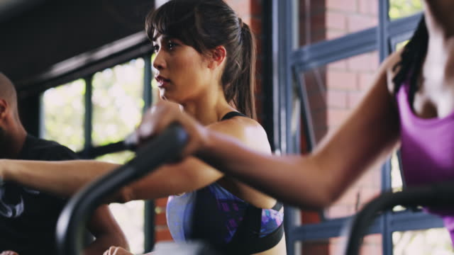 getting the blood pumping - exercise bike stock videos and b-roll footage