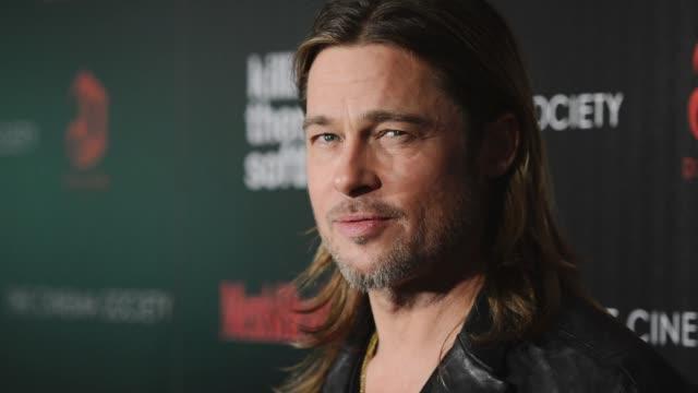 11/27/12 on november 27 2012 in hollywood california - brad pitt attore video stock e b–roll
