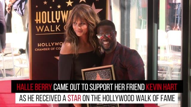 vídeos de stock, filmes e b-roll de gettyimages celebrity news kevin hart 10/11/16 - halle berry