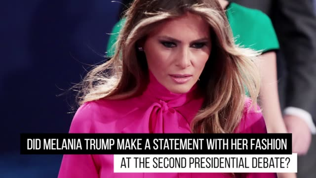 gettyimages celebrity news pussy bow 10/10/16 - melania trump stock-videos und b-roll-filmmaterial