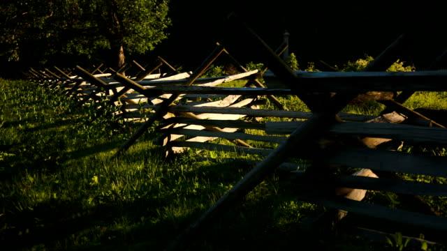 stockvideo's en b-roll-footage met gettysburg fence - gettysburg