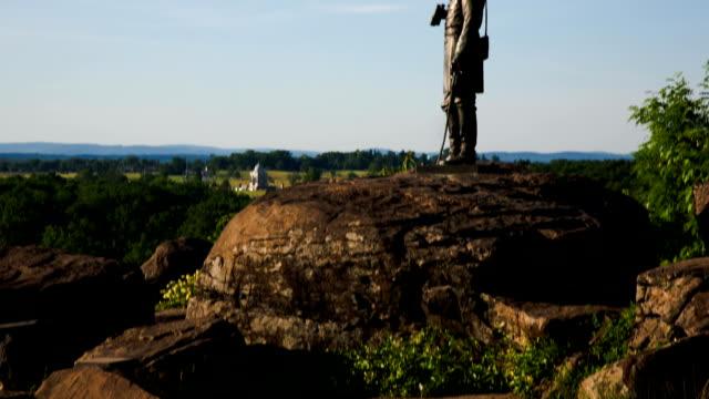 stockvideo's en b-roll-footage met gettysburg little round top - gettysburg