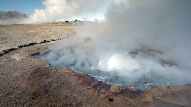 vídeos de stock e filmes b-roll de geyser del tatio, atacama - áudio disponível online