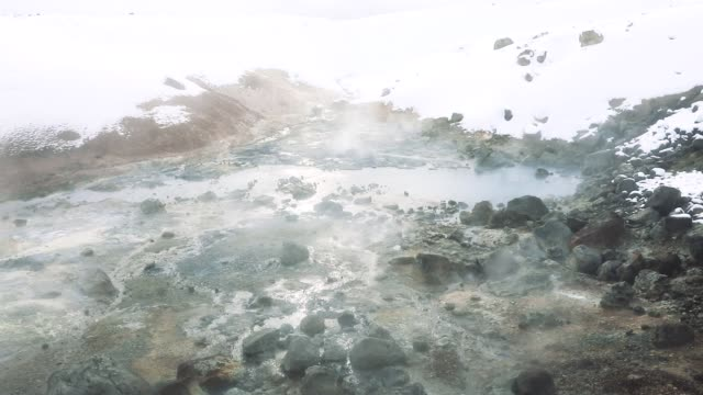 geyser iceland erupting - eruzione video stock e b–roll