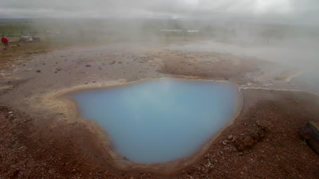 vidéos et rushes de geyser islande terre - tourisme vert
