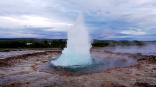 geysir in eruption - geyser stock videos and b-roll footage