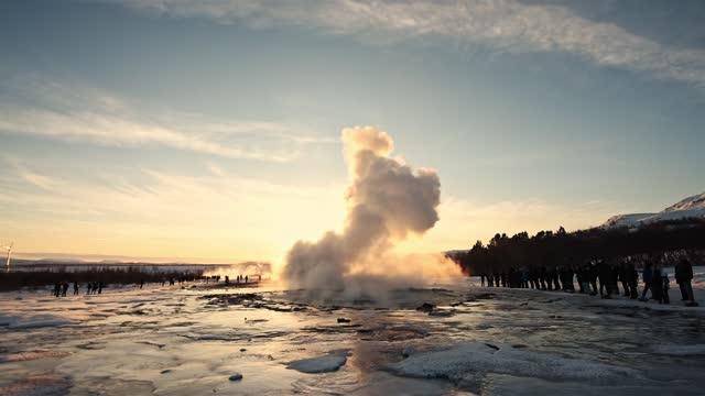 geyser in iceland - geyser stock videos & royalty-free footage