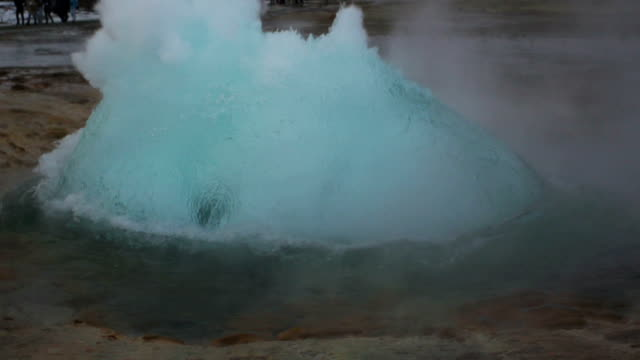 geysir erupting slow motion - geyser stock videos & royalty-free footage