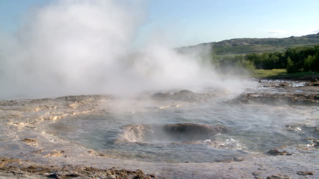 geysir in island - geyser stock videos and b-roll footage