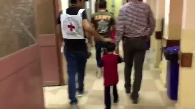 ghalib ibrahim suffered a serious blast injury amid fighting in the iraqi city of mosul his mother was presumed dead but medics from the... - conceptual symbol stock videos and b-roll footage