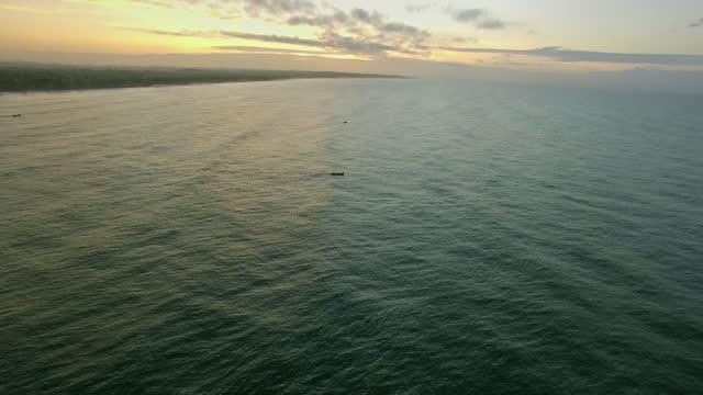 av ghana coast at sunrise - elmina stock videos & royalty-free footage