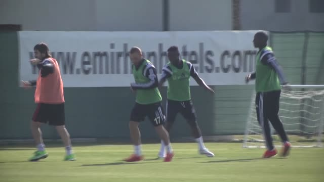ghana defender daniel opare attends the first training session after signing a sixmonth loan deal with turkish football club besiktas in antalya... - besiktas stock videos and b-roll footage