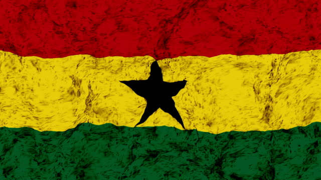 Ghana flagga vajande