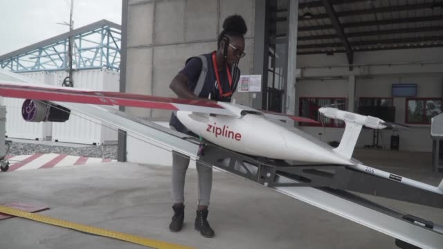 ghana launches a fleet of airborne drones carrying medical supplies to remote areas with president nana akufoaddo declaring it would become the... - ghana stock videos & royalty-free footage