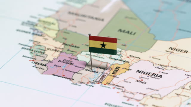 ghana with national flag - ghana stock videos & royalty-free footage