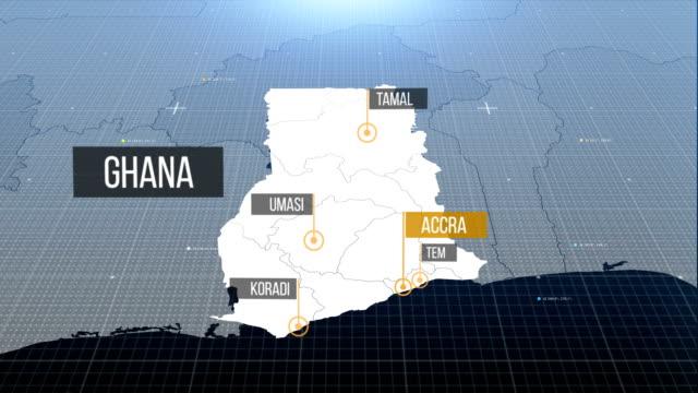 ghanaian map - ghana stock videos & royalty-free footage