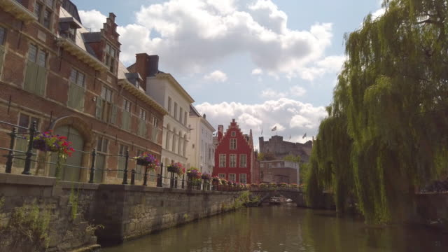 ghent, belgium - architecture stock videos & royalty-free footage