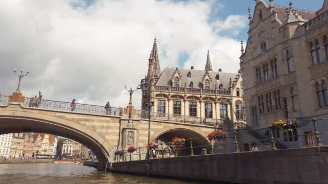 ghent, belgium - xvii° secolo video stock e b–roll