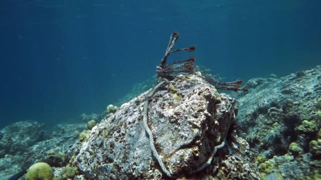ghost net abandoned fishing equipment marine debris polluting the ocean - fishing line stock videos & royalty-free footage
