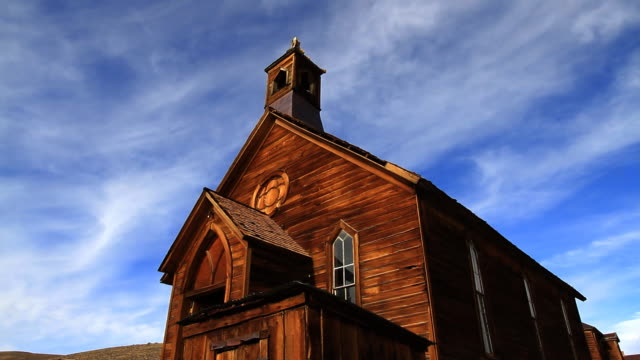 ghost town church - church stock videos & royalty-free footage