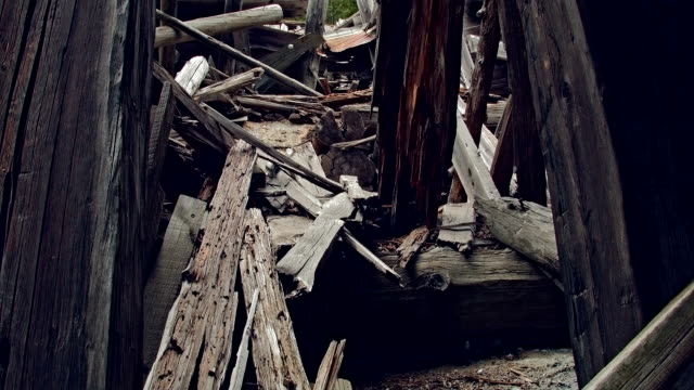 ghost town gold mine oregon old abandoned wooden mining shack interior 2 - imperfection stock videos and b-roll footage