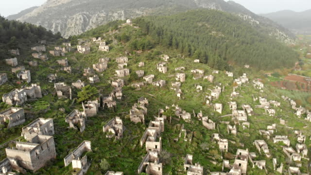 ghost town kayakoy in fethiye - fethiye stock videos and b-roll footage