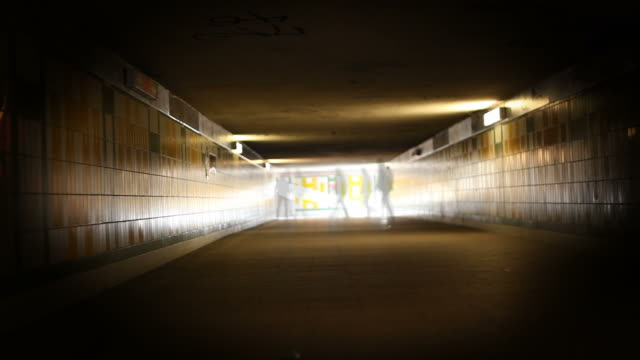 ghosting in a tunnel - light at the end of the tunnel stock videos and b-roll footage