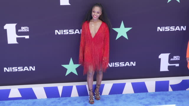 gia peppers at the 2019 bet awards at microsoft theater on june 23 2019 in los angeles california - bet awards stock-videos und b-roll-filmmaterial