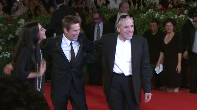 giada colagrande willem dafoe abel ferrara at the 444 last day on earth premiere venice film festival 2011 at venice - last day stock videos & royalty-free footage