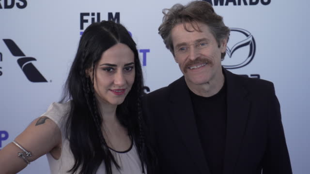 giada colagrande, willem dafoe at the 2020 film independent spirit awards on february 08, 2020 in santa monica, california. - film independent spirit awards stock videos & royalty-free footage