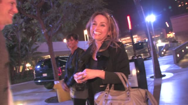Giada De Laurentiss leaving the Lady Gaga Concert at Staples Center in Los Angeles