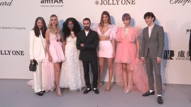 Giambattista Valli x HM launch at amfAR 2019 in Cannes with AnneSofie Johannson Chiara Ferragni HER Giambattista Valli Bianca Brandolini Chris Lee...