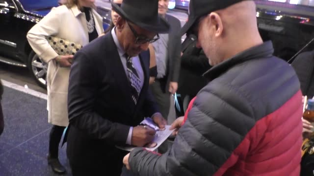 giancarlo esposito greets fans outside the stargirl premiere at el capitan theatre in hollywood in celebrity sightings in los angeles - el capitan theatre stock videos & royalty-free footage