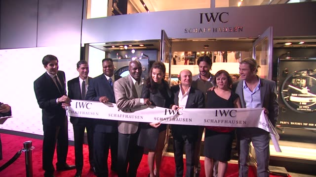 Gianfranco D'Attis Matthew Fox Larry Holmes Evander Holyfield Adriana Lima Georges Kern Joe Manganiello Miya Ali and Chris Hemswort at IWC Flagship...