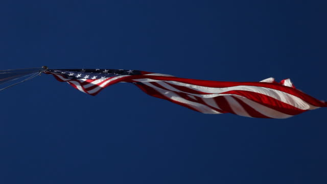 giant american flag looking up - independence stock videos & royalty-free footage