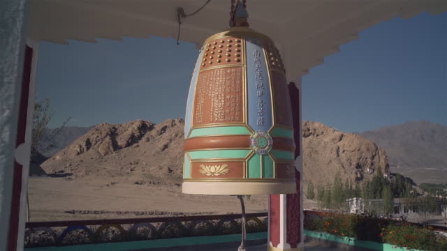 Giant bell in a Buddhist temple near of Leh