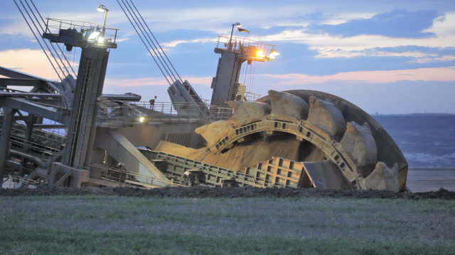 giant bucket wheel - mining natural resources stock videos and b-roll footage