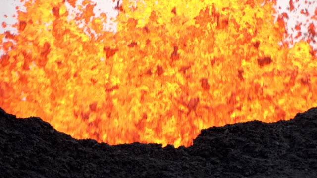 giant fissure spews massive lava fountain during incredible fissure eruption at kilauea volcano in hawaii in may 2018 - lava stock videos & royalty-free footage