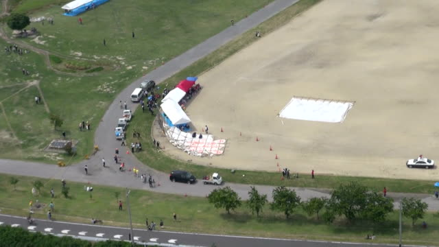 a giant kite flown at a festival in shiga prefecture in western japan crashed into a crowd of spectators on sunday may 31 injuring four people a... - shiga prefecture stock videos & royalty-free footage