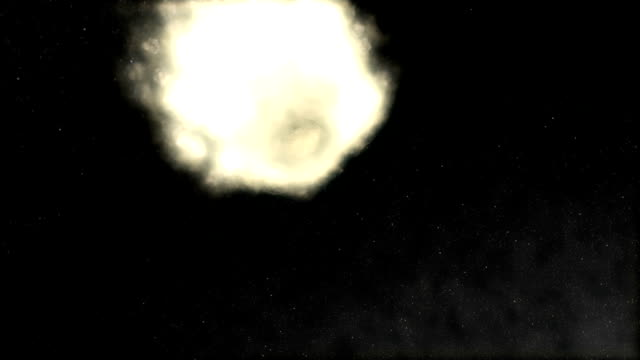 giant meteor from space crashing earth color - meteor stock videos & royalty-free footage